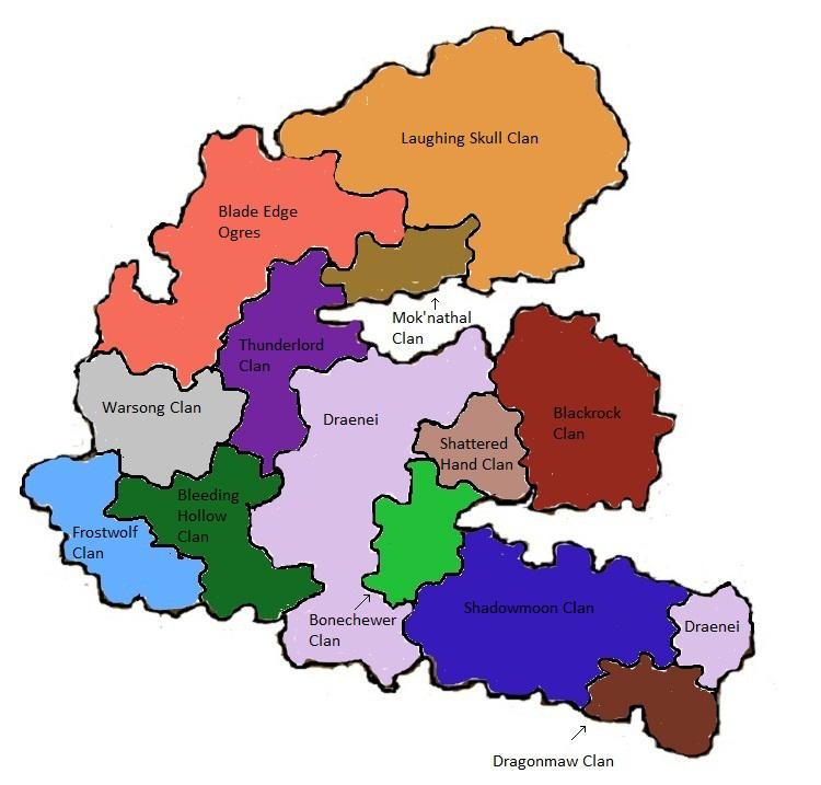 Old Draenor map by ZehirAhsen on DeviantArt