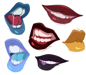 Mouths Practice by kyoukorpse