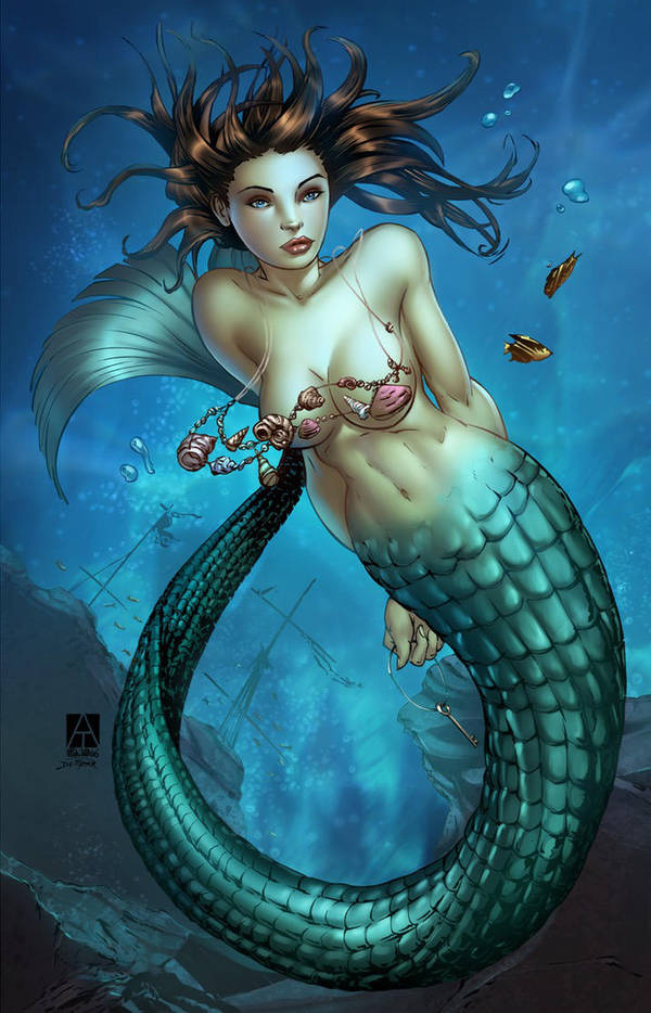 February Blues - Mermaid Siren by artofadamlumb