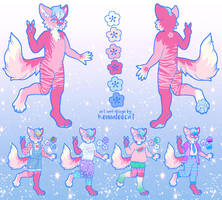 For Pinataghost: Custom Character Design + Sheet by Kennaleecat