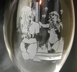 goblin queen in glass etching by amorimcomicart