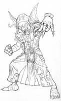 Goblin Death Knight W.I.P. by Wosuko-San