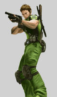 Resident Evil 5 wip 1: Chris by Wosuko-San