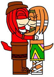 Knuckles x Tikal by ameth18