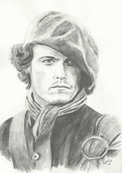 Jamie Fraser by Powerfulwoodelf