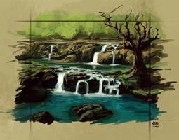 River Sketch by Wildweasel339