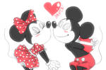 mickey and minnie mouse by parch