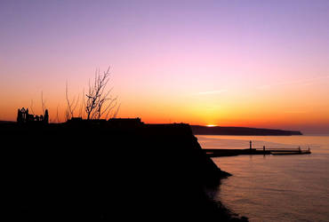 Sunset from the Cleveland Way by Lisa-Downing