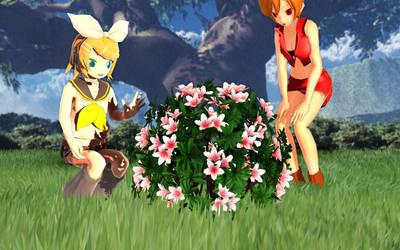 [MMD] Pretty Azalea Bush [DL] by Aliorio