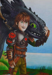 HICCUP  TOOTHLESS  by isabellart14