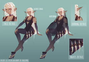 [CLOSED] Desert Elf Auction by Valkymie