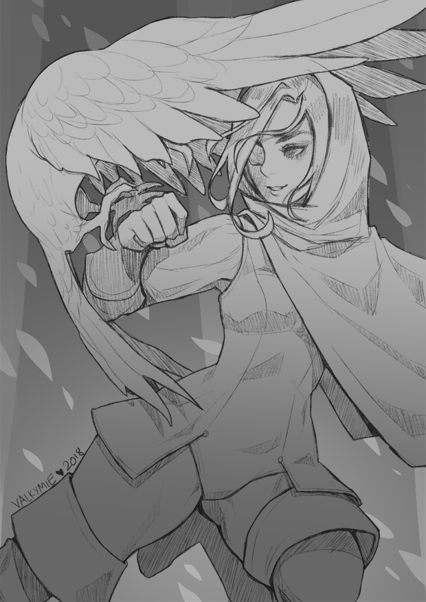 Inktober2018 #5 | Human Ranger by Valkymie