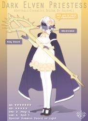 [CLOSED] Dark Elven Priestess by Valkymie