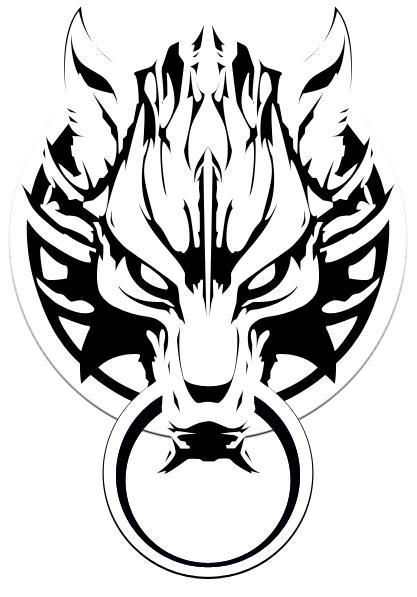 Cloud Wolf Head Tatoo by Anarki3000