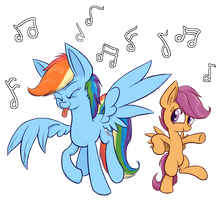 ScootaDash Dance-off by Heir-of-Rick