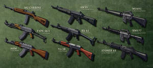 Assault Rifles (In the Cold) Combined by Hoborginc