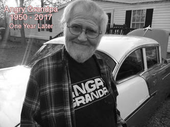 One Year Later (RIP Angry Grandpa) by AldutheCat