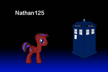Nathan125 and the TARDIS by AldutheCat