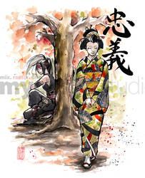 Princess and Kunoichi by MyCKs