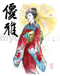 Kimono and Umbrella by MyCKs