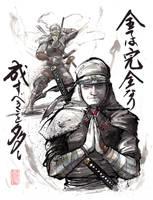 Custom Ninja painting Sumie by MyCKs