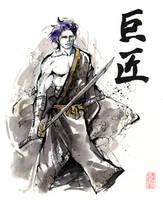 Master sumi and watercolor by MyCKs