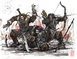 Thorin, Kili and Fili by MyCKs