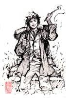 Young Baggins Ink Sketch by MyCKs