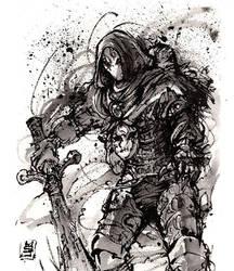 Jack of Blades Ink sketch by MyCKs