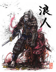 Witcher Geralt of Rivia Samurai RONIN by MyCKs