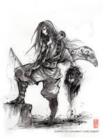 Tenjoshi - Samurai Steampunk Marionette by MyCKs