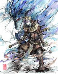 Commission: Ghost Swordsman by MyCKs