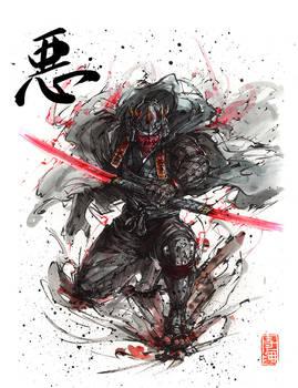 Evil Samurai Warrior - Darth Maul by MyCKs