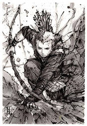 Atreus Ink Sketch by MyCKs