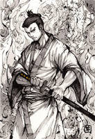 Samurai Jack ink drawing by MyCKs