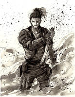 Samurai Adam Jensen Deus Ex by MyCKs
