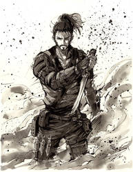 Samurai Adam Jensen Deus Ex by MyCKs