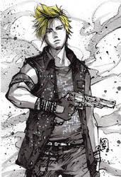 Prompto ink sketch giveaway by MyCKs