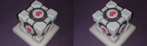 Pepakura Companion Cube in 3D by deryoshi