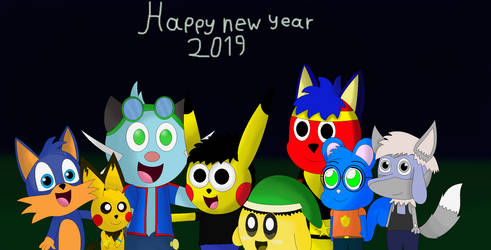 Happy new year 2019 by pikachuandpichu106