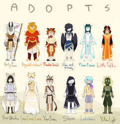 (CLOSED) My Head is an Animal Adopts by Rhi-The-Hybrid
