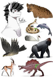 Kaite animal transformations by Nederside
