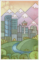 Calgary Postcard by DerekL