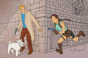 Tintin Raider by DerekL
