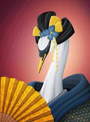 Kimono Swan by Himeija