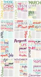2011 Bible Verse Calendar by lizzAy