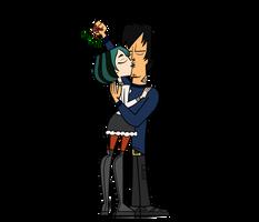 Kisses under the mistletoe - Gwen and Trent by RachelTD