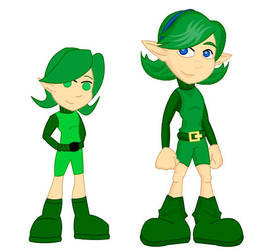 Old and New: Saria by LegendaryFrog