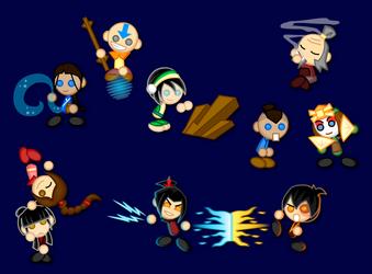 Chibi Avatar: Last Airbender by LegendaryFrog