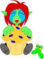 Huge muffin by LegendaryFrog